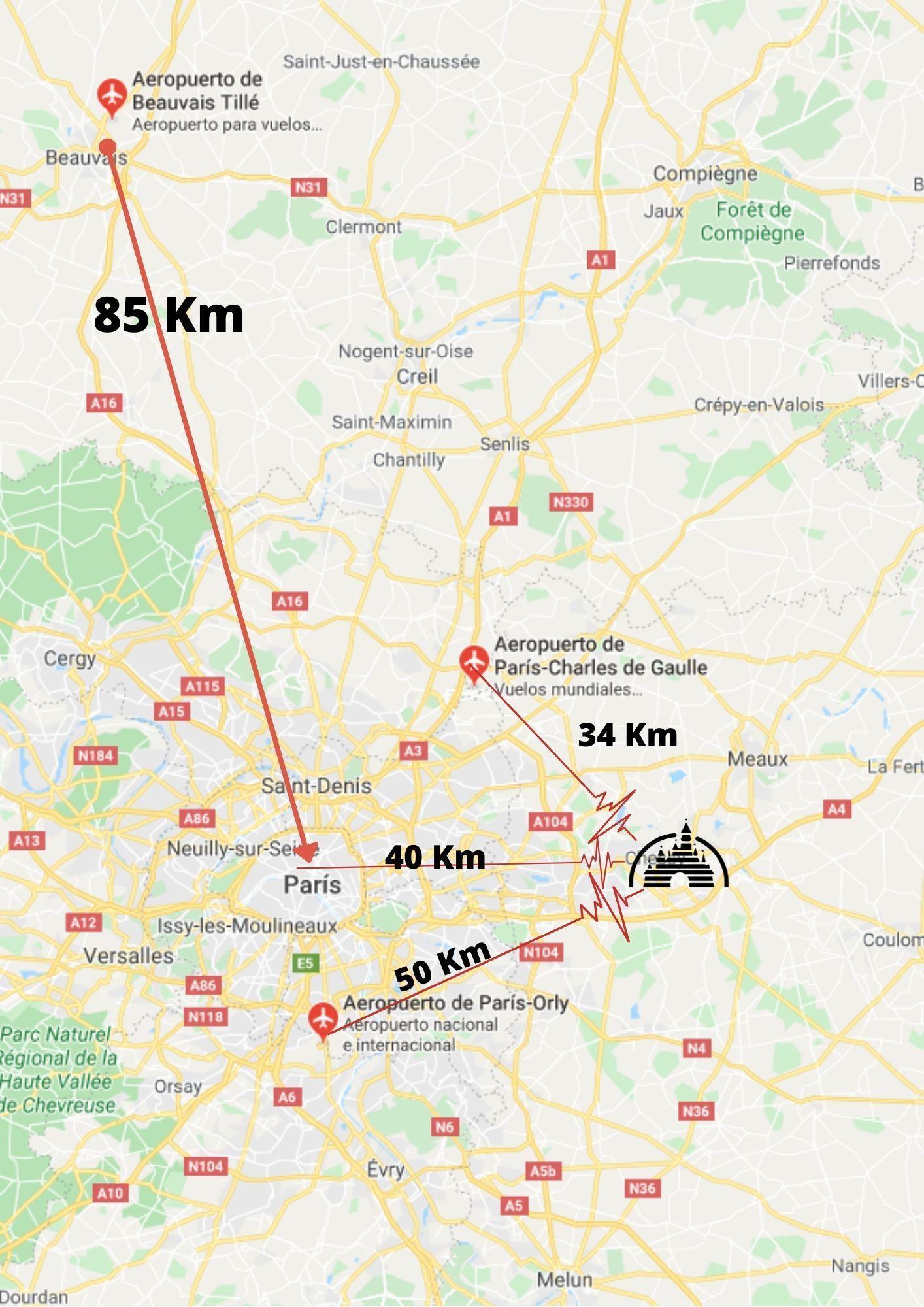 Cómo viajar a Disneyland París en Avión