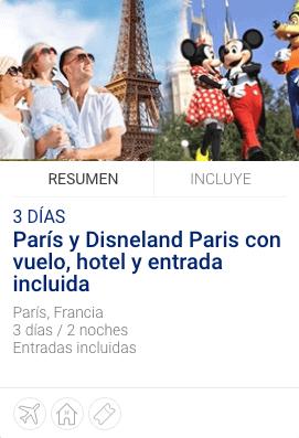 París y Disnyeland Paris con vuelo, hotel
