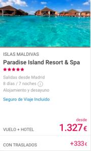 Ofertas Viaje a Maldivas 2020