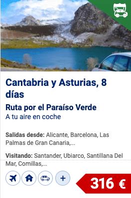 Oferta ruta en coche por Cantabria y Asturias