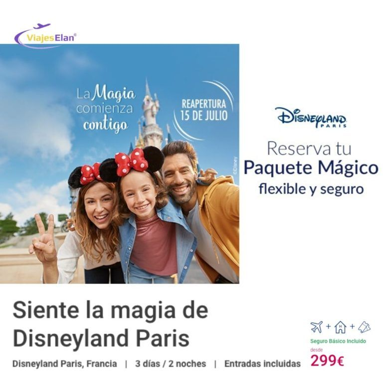 Oferta reapertura Disneyland París