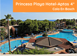Princesa Playa hotel- Aptos 4* Cala En Bosch