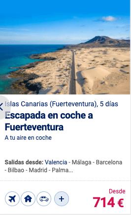 Escapada en coche a Fuerteventura