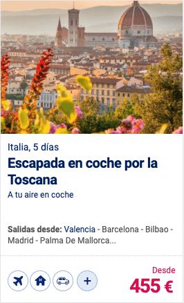 Escapada en coche por la Toscana