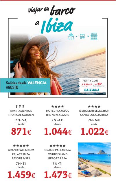 En barco a Ibiza