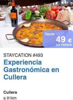 Escapada Gastronómica paella Valencia