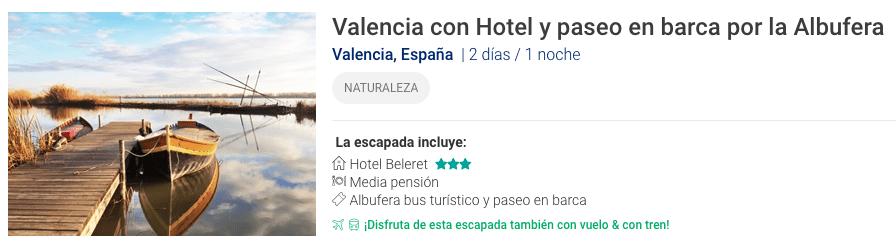 Escapada a Valencia y paseo en barca por la Albufera de Valencia