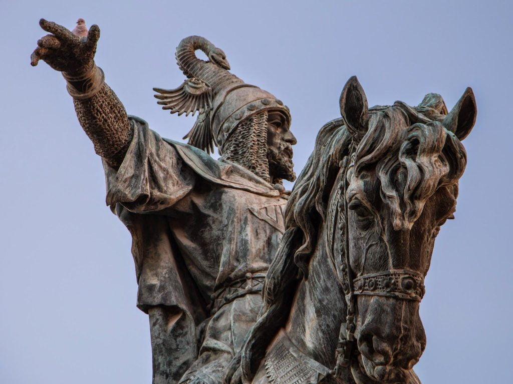 Estatua de Jaume I en Valencia