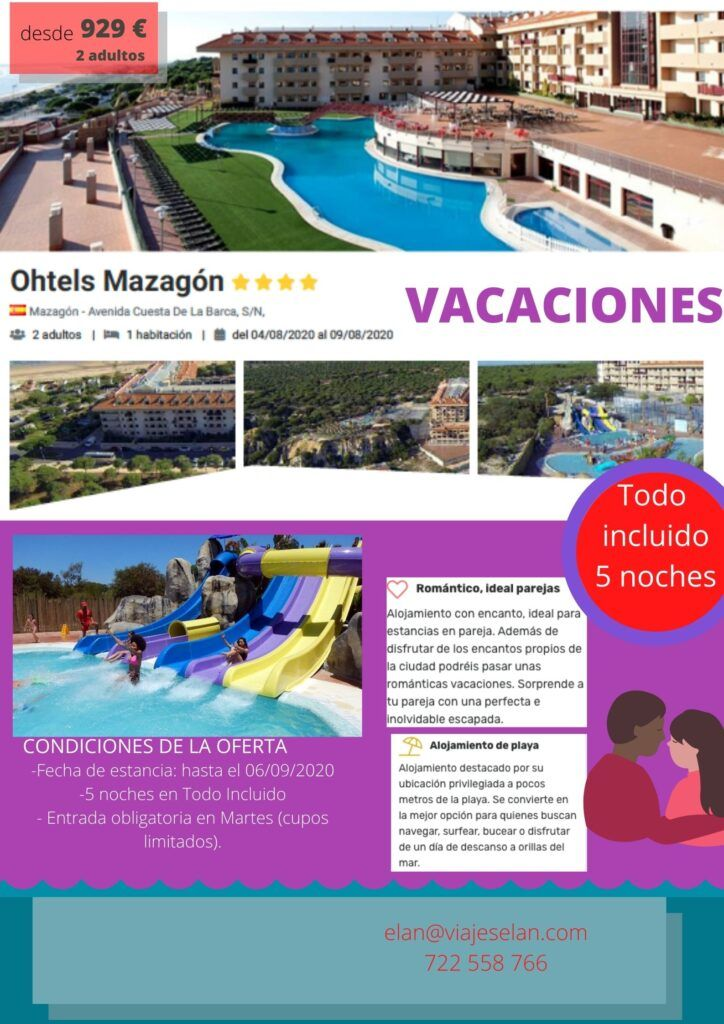 Vacaciones Todo Incluido- Ohtels Mazagón