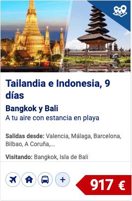 Tailandia e Indonesia, bangkok y bali