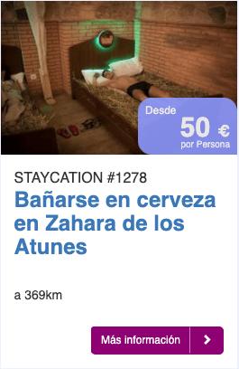 BAÑARSE EN CERVEZA EN ZAHARA DE LOS ATUNES