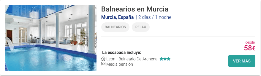 Balnearios en Murcia