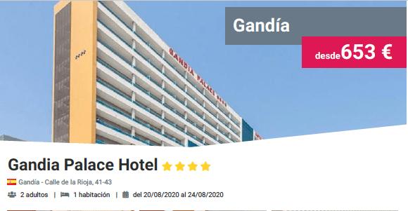 GANDÍA PALACE HOTEL 4* TODO INCLUIDO
