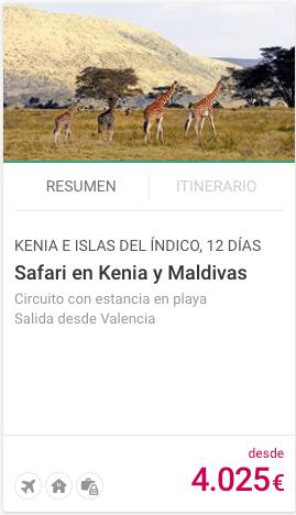 SAFARI EN KENIA Y MALDIVAS