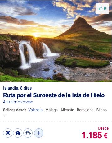 RUTA POR EL SUROESTE DE LA ISLA DE HIELO