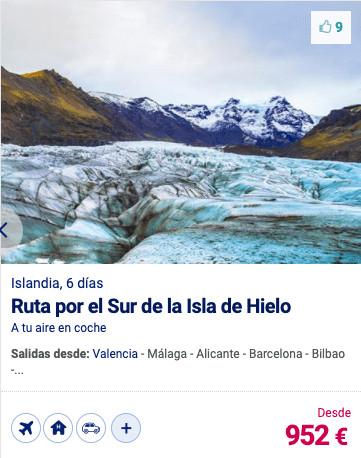 RUTA POR EL SUR DE LA ISLA DE HIELO