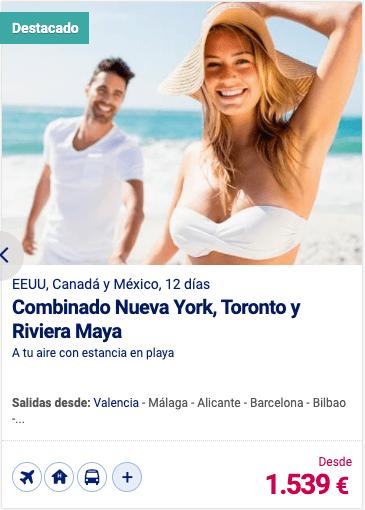 Combinado Nueva York, Toronto y Riviera Maya
