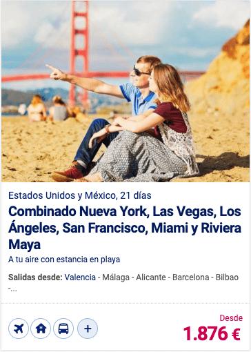 Combinado Nueva York, Las Vegas, Los Ángeles, San Francisco, Miami y Riviera Maya