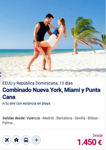 Combinado Nueva York, Miami y Punta Cana