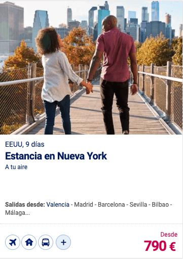 Estancia en Nueva York