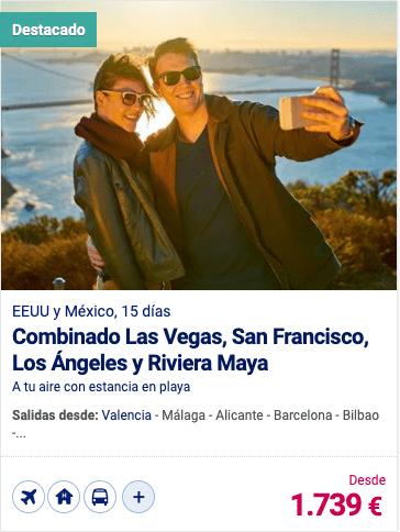 Combinado Las Vegas,San Francisco, Los Angeles y Riviera Maya