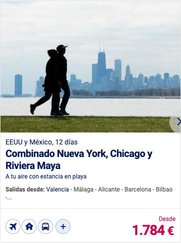 Combinado Nueva York, Chicago y Riviera Maya