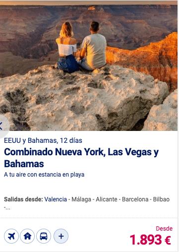 Combinado Nueva York, las Vegas y Bahamas