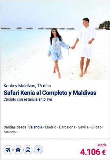Safari Kenia al Completo y Maldivas