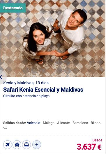 Safari Kenia Esencial y Maldivas