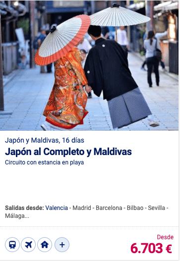 Japón al Completo y Maldivas