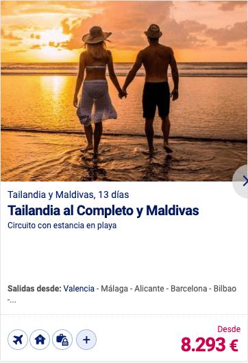 Tailandia al Completo y Maldivas