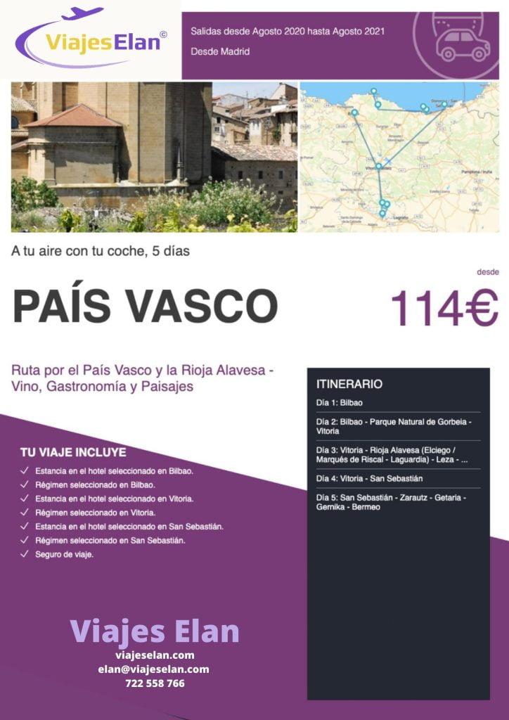 Ruta País Vasco y Rioja Vino Grastronomia