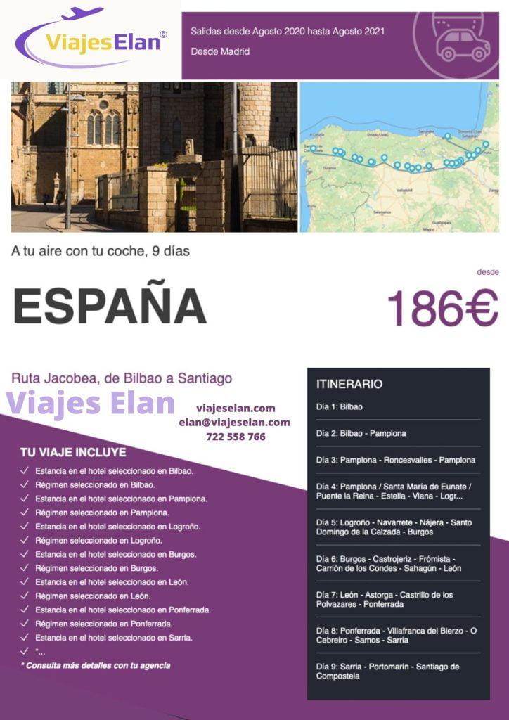Ruta Jacobea, Bilbao y Santiago