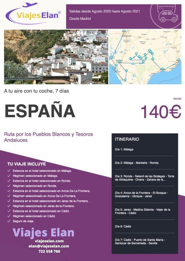 Ruta Pueblos blancos y Andaluces