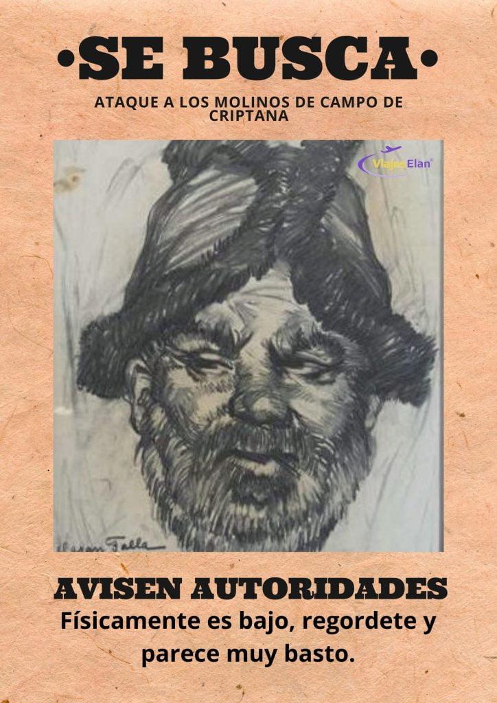 Se Busca Sancho Panza los molinos de Campo de Criptana