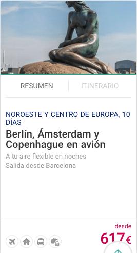 Berlin, Ampsterdam y Copenhague en avión