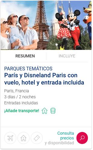 Paquetes Disneyland París