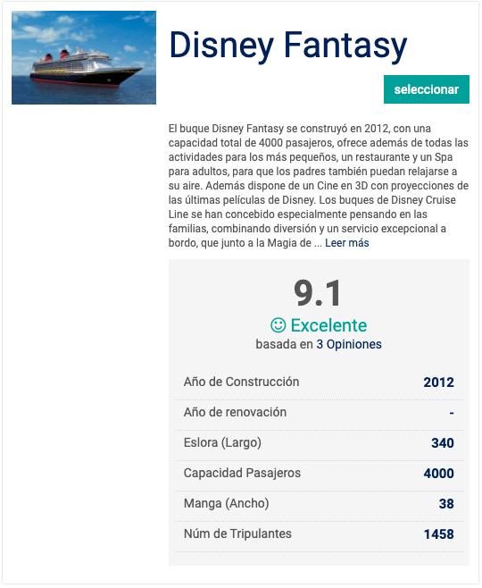 Barcos de los Cruceros Disney