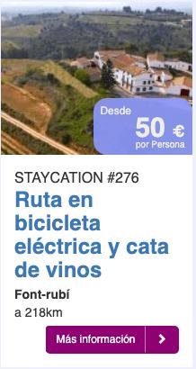 Ruta en bicicleta electrica y cata de vinos
