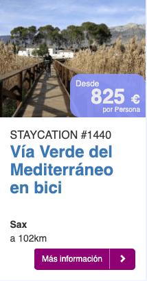 Via verde del Mediterraneo en bici