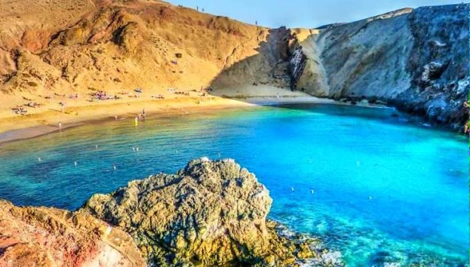 Playas de Papagayo ruta por Lanzarote